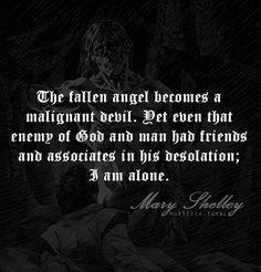 Mary Shelley, Frankenstein [Chapter 24] Monster from: http://mortisia ...