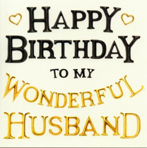cover text happy birthday to my wonderful husband inside text blank ...
