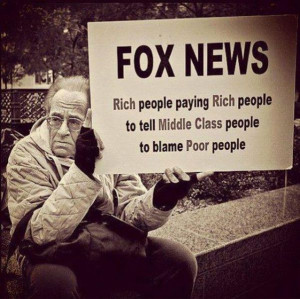 ... people paying rich people to tell middle class people to blame poor