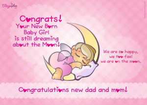 Baby Girl, New Born Baby Girl Congratulations, New Baby Girl Greetings ...