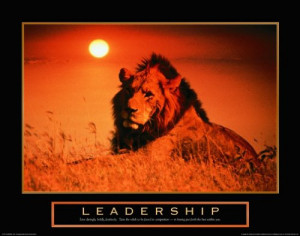 Lion Pride Motivational Poster Inspirational Art Print