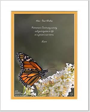 Personalized Retirement Gift Monarch Butterfly