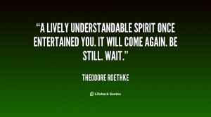 lively understandable spirit Once entertained you. It will come ...