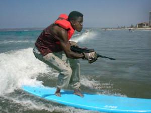 Funny Surfing Shooting Gun