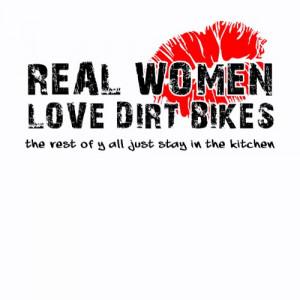 Real Women Love Dirt Bikes Funny Dirt Bike Motocro zazzle_shirt
