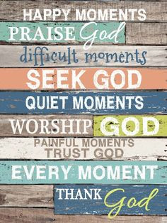 Happy Moments Praise God New Blocking Framed Art Picture by Summer ...