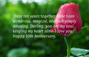10 anniversary wishes