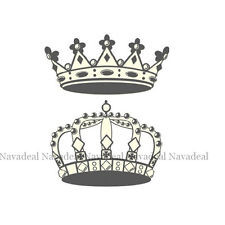 New Royal King Queen Crown Cartoon DIY Wall Decal Sticker Kids Room ...