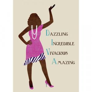 African American Happy Birthday Diva