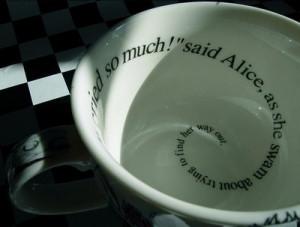alice, alice in wonderland, quote, quotw, swam, tea, teacup, way ...