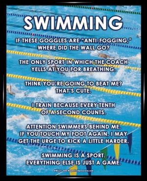 Swimming Sayings For Posters Swimming meet 8x10 framed