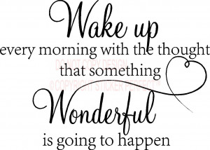 Vinyl Wall Decals / Kitchen/Laundry/Bathroom / Wake up every morning ...