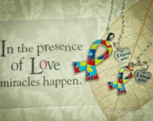 Autism / Asperger Awareness Necklaces -- Autism necklace, Autism ...