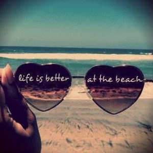 sunglasses and a cute quote - life is better at the beachShades ...