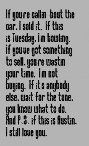 Blake Shelton - Austin - song lyrics, country music, song quotes ...