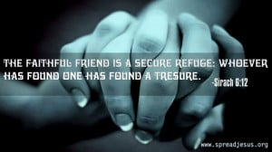 Word of God wallpapers-Bible Quotations-The faithful friend is a ...