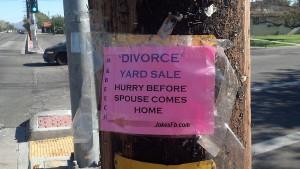 Divorce Garage On Sale