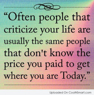 Criticism Quotes, Sayings about critics