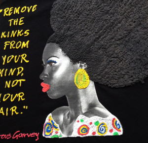 Afro Curly Tshirt, Marcus Garvey quote Natural Hair Tee, Afro T shirt ...