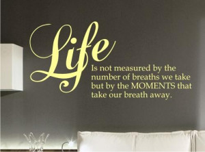 about LIFE MONENTS Inspirational WALL STICKER QUOTE ART DECAL QUOTE ...