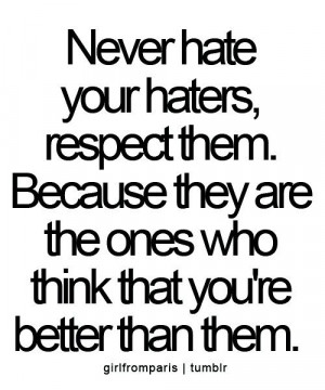 Rhyme Quotes About Haters