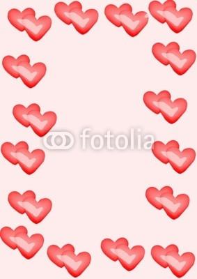 Illustration cadre coeur rouge