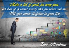 Make a list of #goals for every year..tick them off & #reward yourself ...