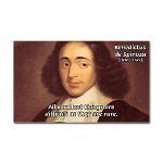 Spinoza Ethics Philosophy Rectangle Sticker