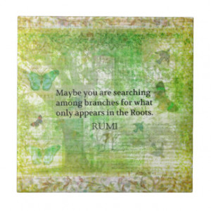 Rumi quote on healing and love tiles