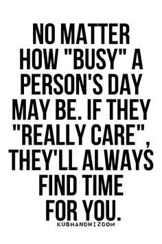 No matter how busy a person's day is