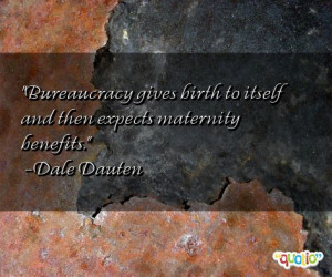 Bureaucracy gives birth to itself and then expects maternity benefits.