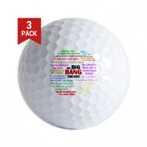 Big Bang Gifts > Big Bang Golf Balls > Big Bang Quotes Golf Balls