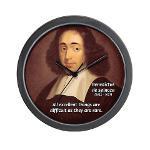 Spinoza Ethics Philosophy Wall Clock