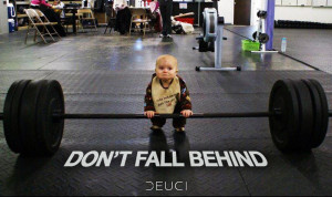 Weight Lifting Baby … The Stuff You Find on Facebook