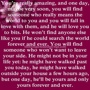 you truly love someone let them go quotes about really loving someone ...
