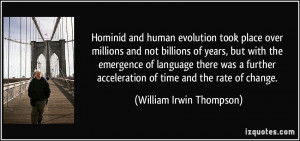 Hominid and human evolution took place over millions and not billions ...