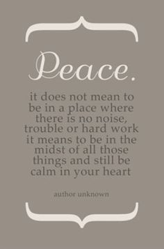 Peace, Quote