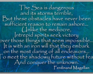 INSPIRATIONAL Quote about the Sea & Sailing by Magellan - Available as ...