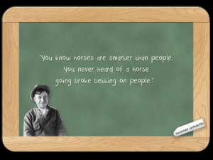 Will Rogers... on How Smart Horses Are