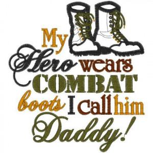 Sayings 1681 Hero Combat Boots Applique 5x7 Design