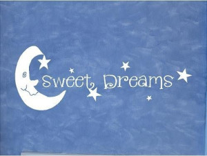 VINYL QUOTE - SWEET DREAMS with moon and stars-buy any 2 quotes and ...