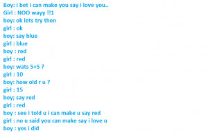 Funny Conversations Between Boy And Girl Love conversations between ...