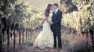 Maynard and her husband, Dan Diaz, on their wedding day. They had been ...