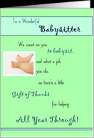 Babysitter Thank You card - Product #314846