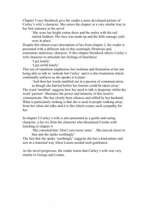 Exemplar curley's wife essay