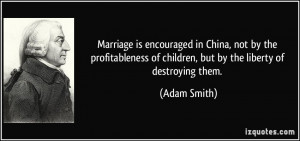 Marriage is encouraged in China, not by the profitableness of children ...