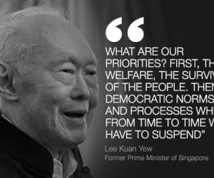 Singapore's first prime minister Lee Kuan Yew, one of the towering ...