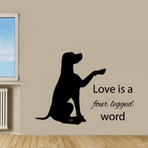 Labrador Wall Decals Dog Wall Quotes Pets Vinyl Sticker Puppy Decal ...