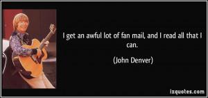 More John Denver Quotes