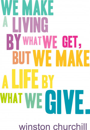 THE PSYCHOLOGY OF GIVING » Giving quote